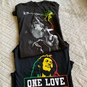 2 bundle Bob Marley T-shirts